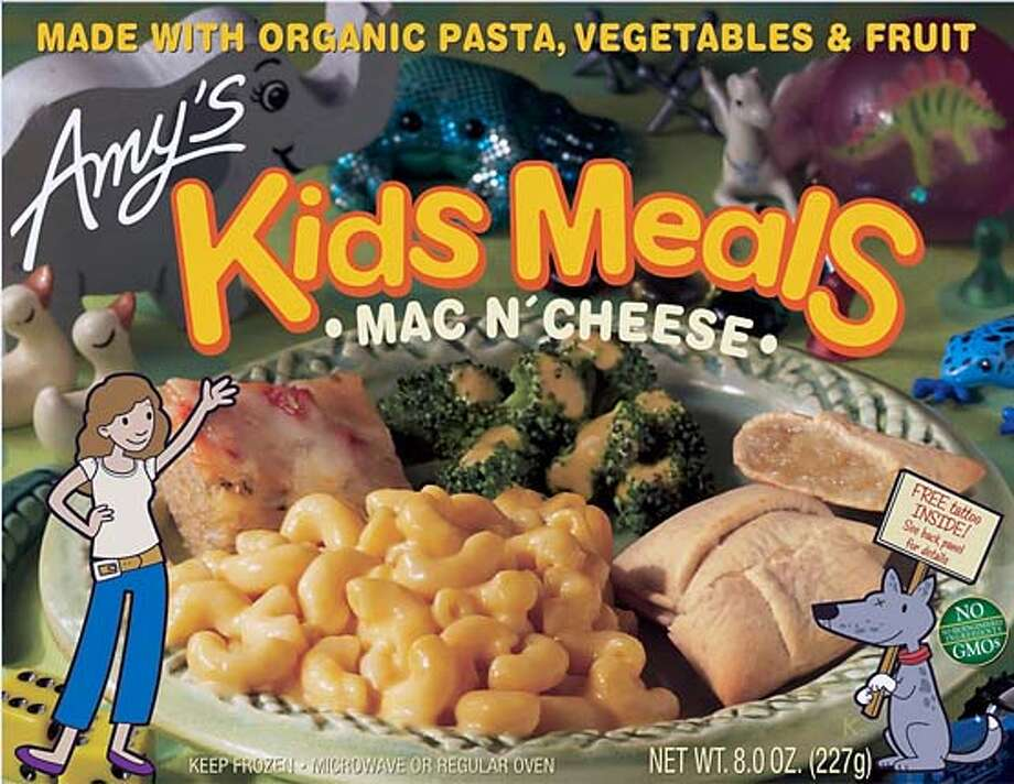 Amy's Kids Meals are $2.99-$4.49 at natural foods stores like Berkeley Bowl, Apple Market in Novato, and many Whole Foods markets.