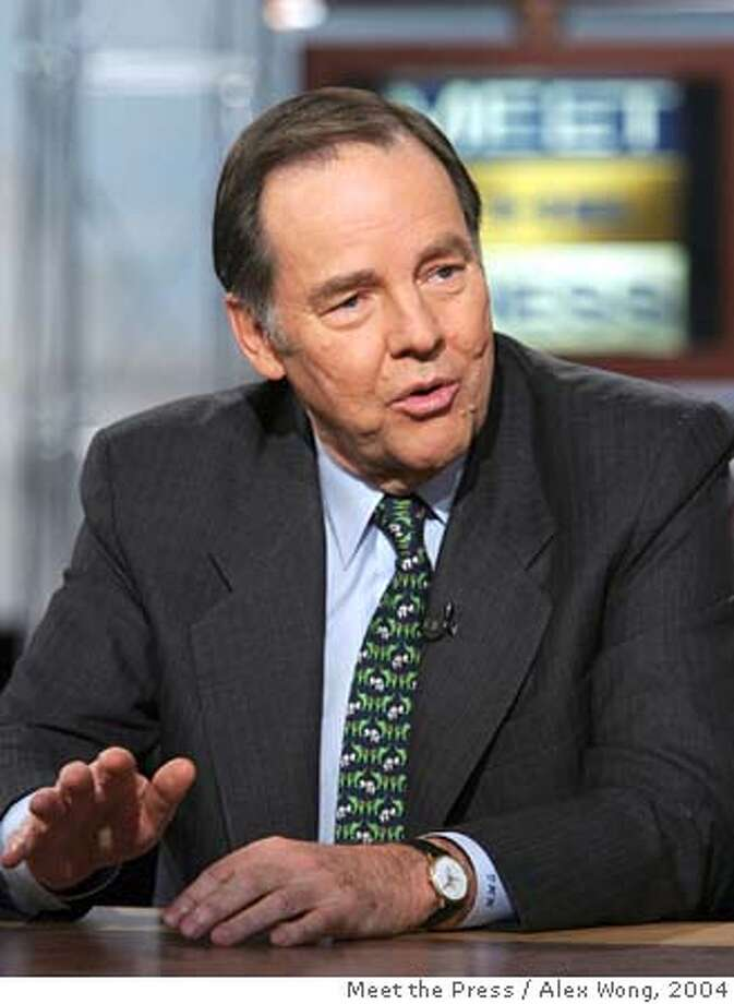 "Chairman of the 9/11 Commission and former New Jersey governor Thomas Kean speaks on NBC's ""Meet the Press"" in Washington Sunday, Nov. 28, 2004, about the nation's intelligence reform. Kean said Sunday that It will take pressure by President Bush on the Republican-controlled Congress to ensure passage of bottled-up legislation to overhaul intelligence agencies. (AP Photo/Meet the Press, Alex Wong) ** NO ARCHIVE MUST USE BEFORE DECEMBER 5, 2004 MANDATORY CREDIT: MEET THE PRESS, ALEX WONG ** Ran on: 11-29-2004  Tom Kean, chairman of the Sept. 11 panel, urged President Bush to push for reforms in intelligence. Ran on: 11-29-2004  Tom Kean, chairman of the Sept. 11 panel, urged President Bush to push for reforms in intelligence. NO ARCHIVE MUST USE BEFORE DECEMBER 5, 2004 MANDATORY CREDIT: MEET THE PRESS, ALEX WONG Ran on: 08-18-2005  Army Lt. Col. Anthony Shaffer says his highly classified intelligence program identified hijackers before the terror attacks. Nation#MainNews#Chronicle#8/18/2005#ALL#5star##0422489889 Photo: ALEX WONG"