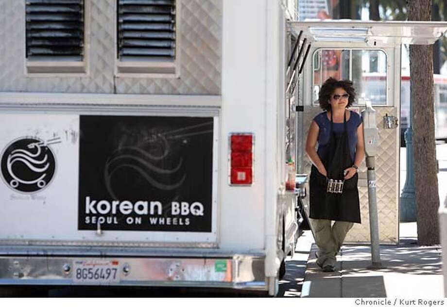 Julia Yoon who owns Korean BBQ Seoul on Wheels .  TUESDAY, AUG 21, 2007 KURT ROGERS SAN FRANCISCO SFC  THE CHRONICLE SEOUL_0064_kr.jpg MANDATORY CREDIT FOR PHOTOG AND SF CHRONICLE / NO SALES-MAGS OUT Photo: KURT ROGERS