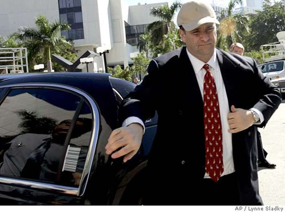 Jack arrives at the federal justice building in Miami where he is expected to plead guilty to criminal charges stemming from the 2000 purchase of SunCruz Casinos Wednesday, Jan. 4, 2006. pleaded guilty in federal court Washington on Tuesday to mail fraud, conspiracy and tax evasion charges. (AP Photo/Lynne Sladky) Photo: LYNNE SLADKY