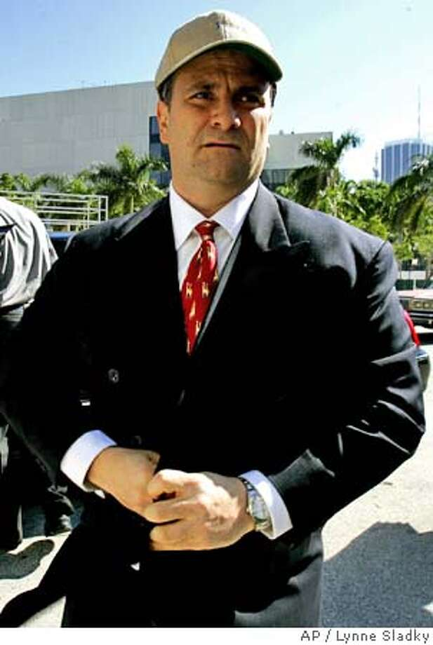 Jack Abramoff arrives at the federal justice building in Miami where he is expected to plead quilty to criminal charges stemming from the 2000 purchase of SunCruz Casinos Wednesday, Jan. 4, 2006. Abramoff plead guilty in federal court Washington Tuesday to mail fraud, conspiracy and tax evasion charges. (AP Photo/Lynne Sladky) Photo: LYNNE SLADKY