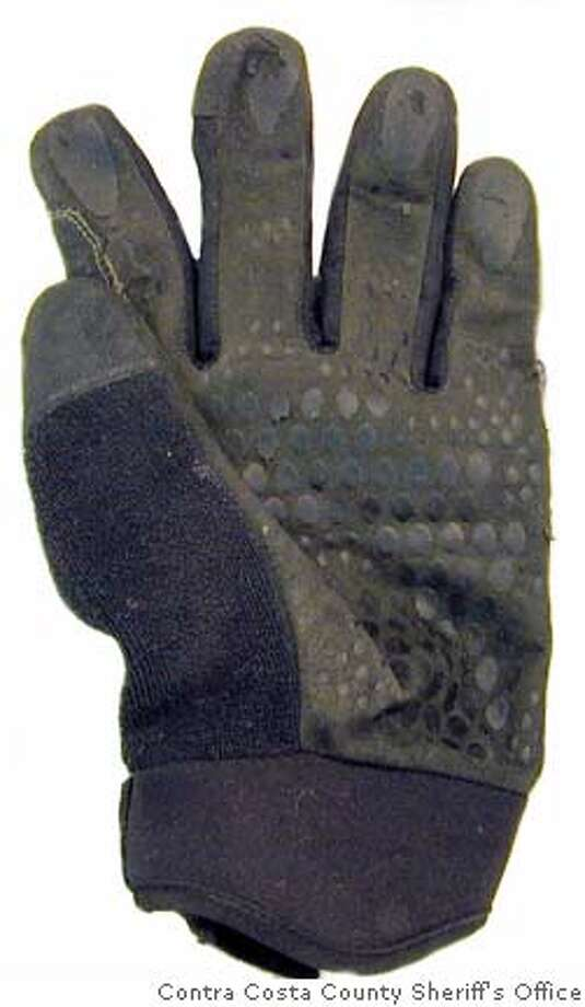 This glove was found at the slaying scene in Lafayette, police say. Photo courtesy Contra Costa County Sheriff's office