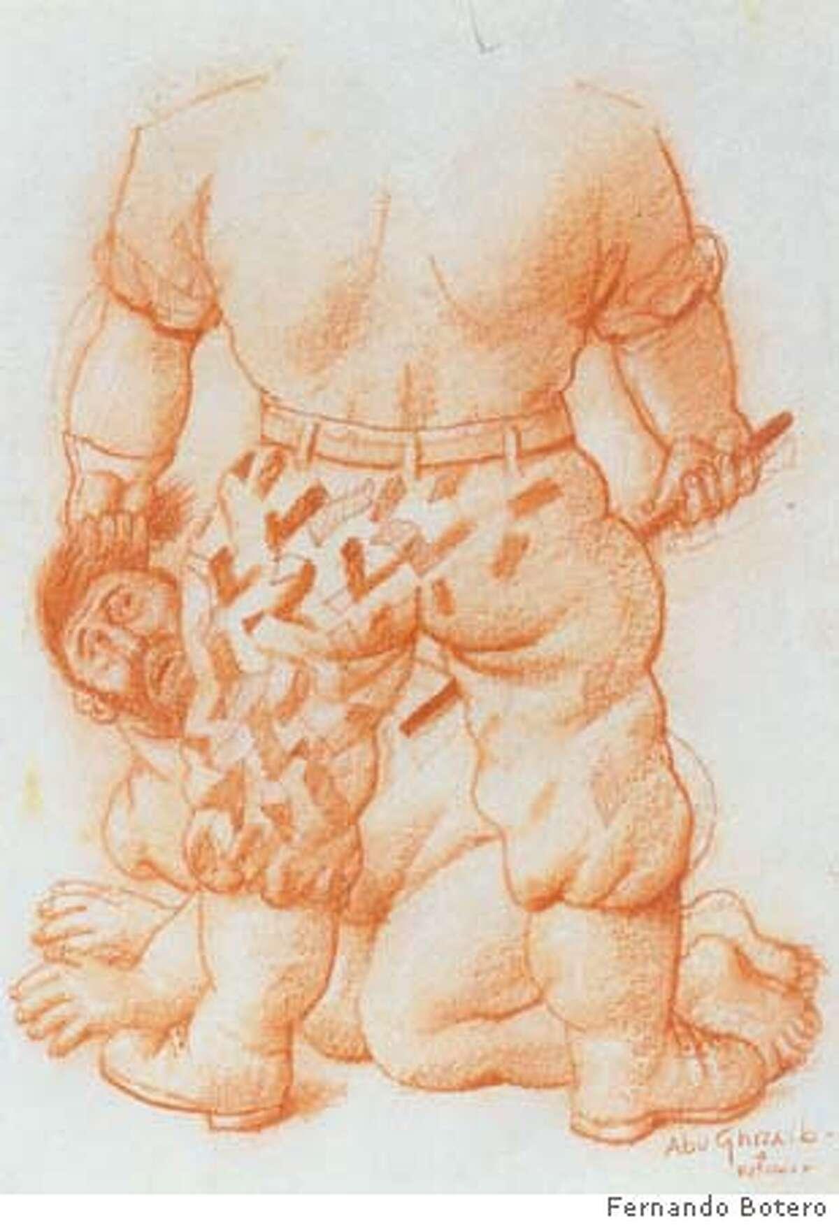 Botero, Abu Ghraib 4, 2004, 40 x 30 cm, sanguine on paper Ran on: 01-29-2007 Abu Ghraib 6 (2004), pencil on paper.