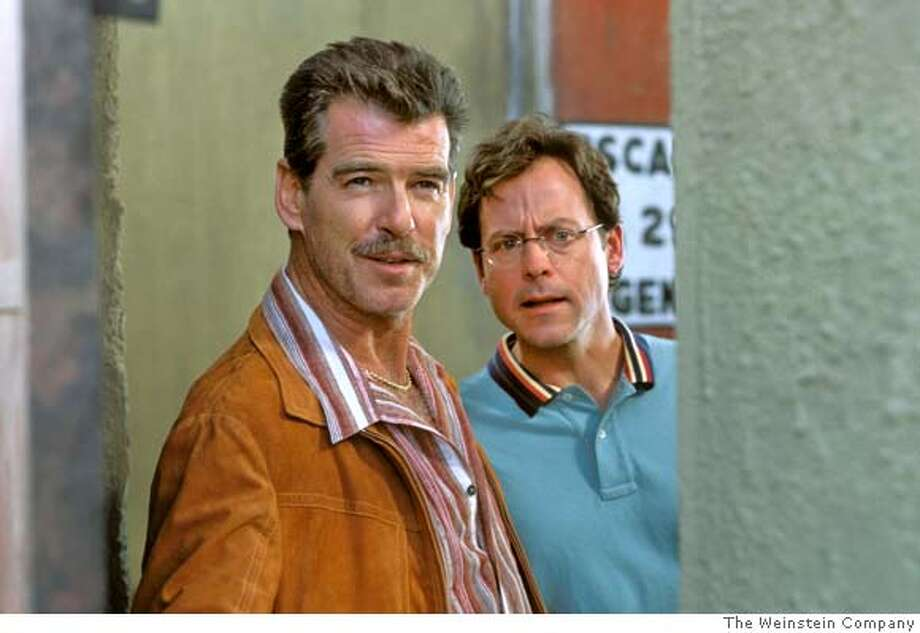 "Actors Pierce Brosnan (L) and Greg Kinnear are shown in a scene from ""The Matador"" in a undated publicity photo released on December 21, 2005. Kinnear stars in new movie ""The Matador"" alongside Pierce Brosnan. It is a low-budget buddy comedy in which Brosnan plays a burned-out assassin whom Kinnear, portraying a businessman, befriends during a lonely week in Mexico City. ""The Matador"" is winning good reviews and Brosnan earned a Golden Globe nomination for acting. Kinnear, 42, is being talked about for the supporting actor Oscar. It is not the first time the TV talk show host-turned-actor has wowed audiences. To match feature Leisure Kinnear. NO ARCHIVE REUTERS/The Weinstein Company/Handout Photo: /The Weinstein Company"