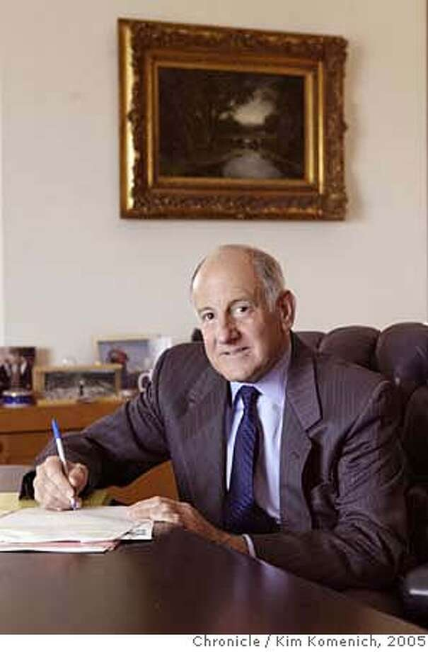 GEORGE_057_kk.jpg  California Supreme Court Chief Justice Ron George photographed in his office at the State Building at 350 McAllister Chronicle photo by Kim Komenich in San Francisco. Ronald George, chief justice of the California Supreme Court, is politically courageous and prodigiously hard-working and has proved to be politically adroit. Ronald George, chief justice of the California Supreme Court, is politically courageous and prodigiously hard-working and has proved to be politically adroit. ALSO Ran on: 12-25-2005  Ronald George MANDATORY CREDIT FOR PHOTOG AND SF CHRONICLE/NO SALES-MAGS OUT Photo: Kim Komenich