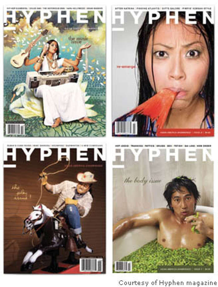 Judge a Book: Hyphen's covers tell you pretty much what to expect  within -- witty, subversive, offbeat reflections on Asian America. I'll  buy that. Photo courtesy of Hyphen magazine
