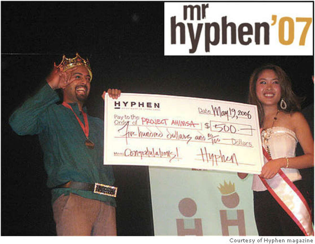 Here he is, Mr. Asian America: The Mr. Hyphen contest has become the magazine's signature fund-raiser -- an offbeat way of talking about a serious topic, while giving back to the community at large. Photo courtesy of Hyphen magazine