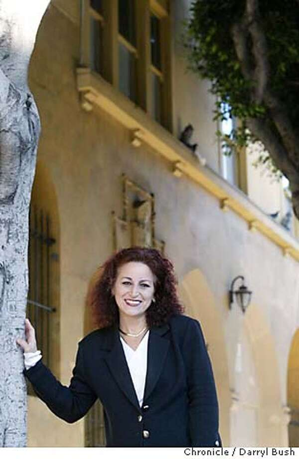 alioto_0007_db.jpg  Angela Alioto in front of St. Francis of Assisi Church's rectory (next to church) on Vallejo St. Alioto has plans for making the block where the church is located a national shrine.  Event on 11/16/05 in San Francisco.  Darryl Bush / The Chronicle MANDATORY CREDIT FOR PHOTOG AND SF CHRONICLE/ -MAGS OUT Photo: Darryl Bush