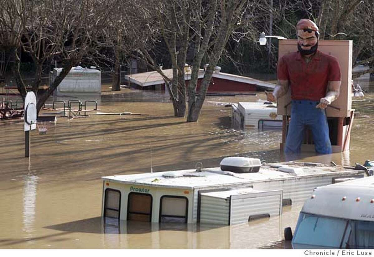 River Bend RV Park just outside Guerneville in Sonoma County was inundated by floods during heavy rains in December 2005.