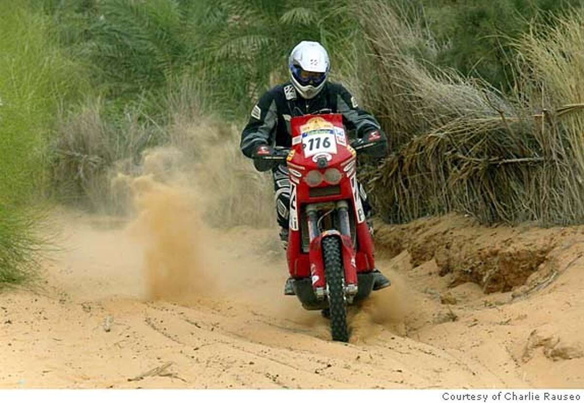 Charlie Rauseo of San Francisco in Dakar Rally, January 2005. Credit: Courtesy of Charlie Rauseo