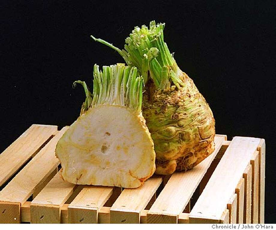 G-CELERY ROOT/C/02DEC96/FD/JO'H  Celery root.  Photo by............John O'Hara Photo: JOHN O'HARA