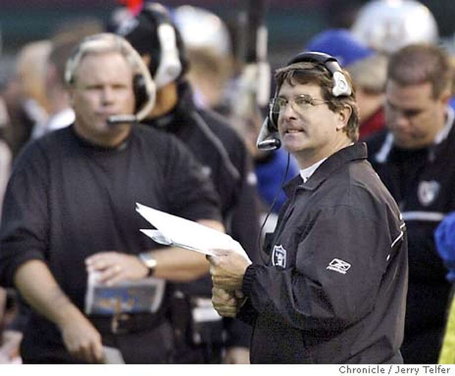 Oakland Raiders vs. Minnesota Vikings.  Event on 11/16/03 in Oakland. coach Bill Callahan. JERRY TELFER / The Chronicle Photo: JERRY TELFER