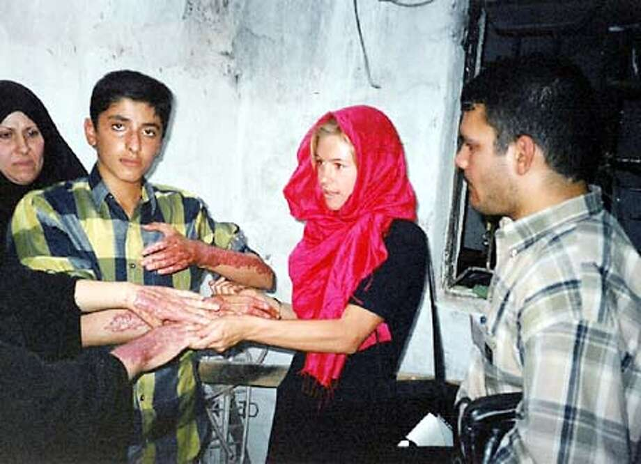 for MARLA; Marla Ruzicka on the ground in Baghdad. , HO / Special To The Chronicle