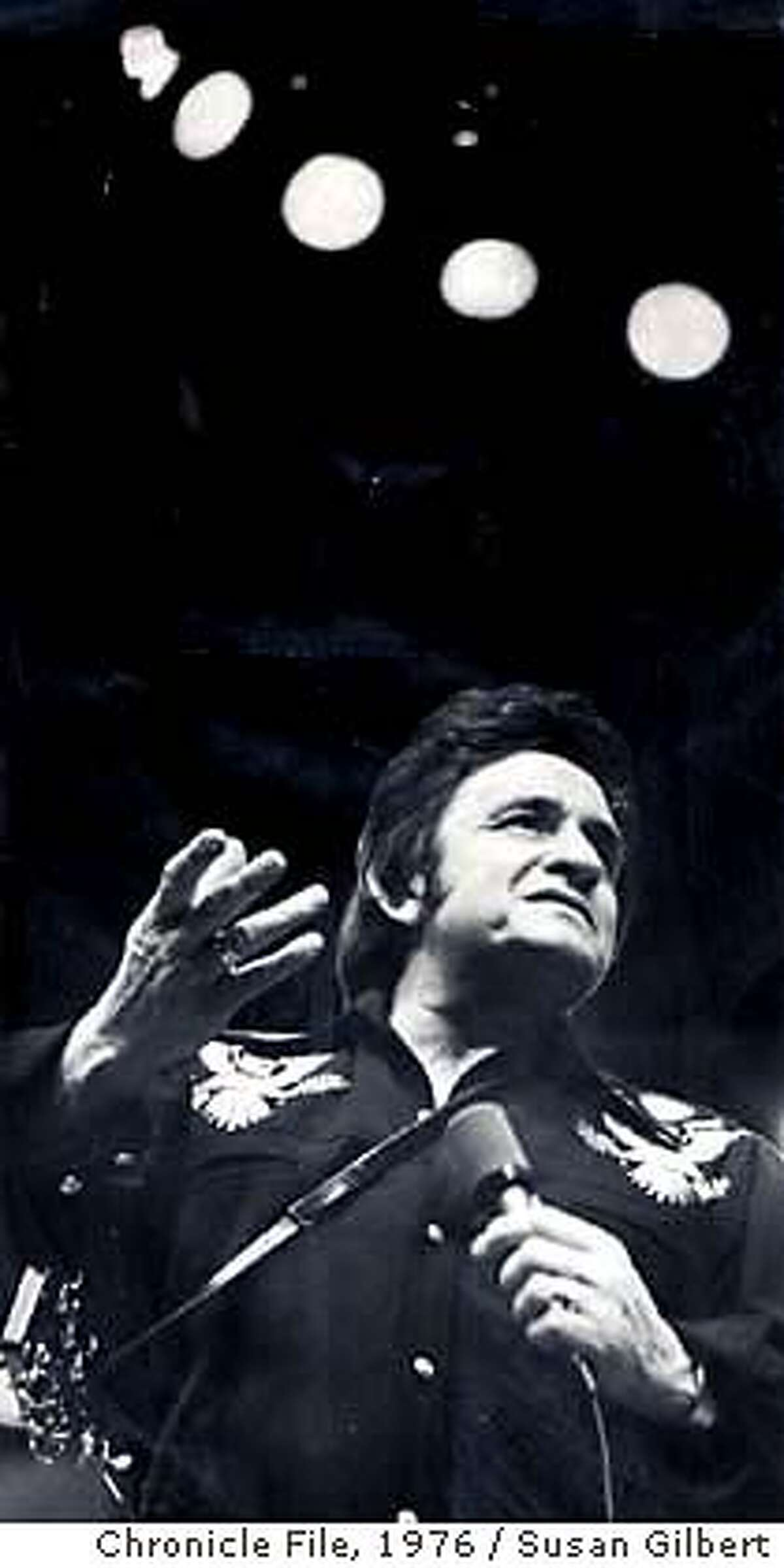 Johnny Cash in concert(3/12/76) on 9/12/03 in San Francisco. Susan Gilbert / The Chronicle / 1976