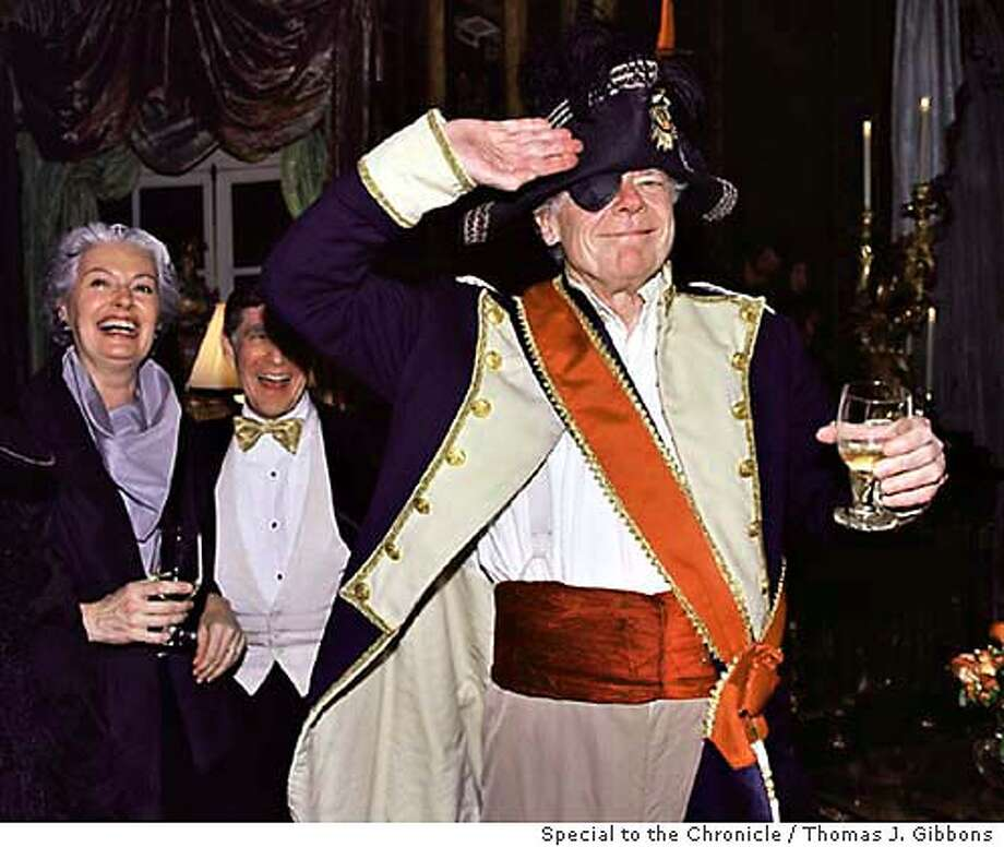 Gordon Getty as Vice Admiral Lord Nelson at his 70th birthdya party on 12/20/2003. Photo by Thomas J. Gibbons/ Special to the Chronicle.