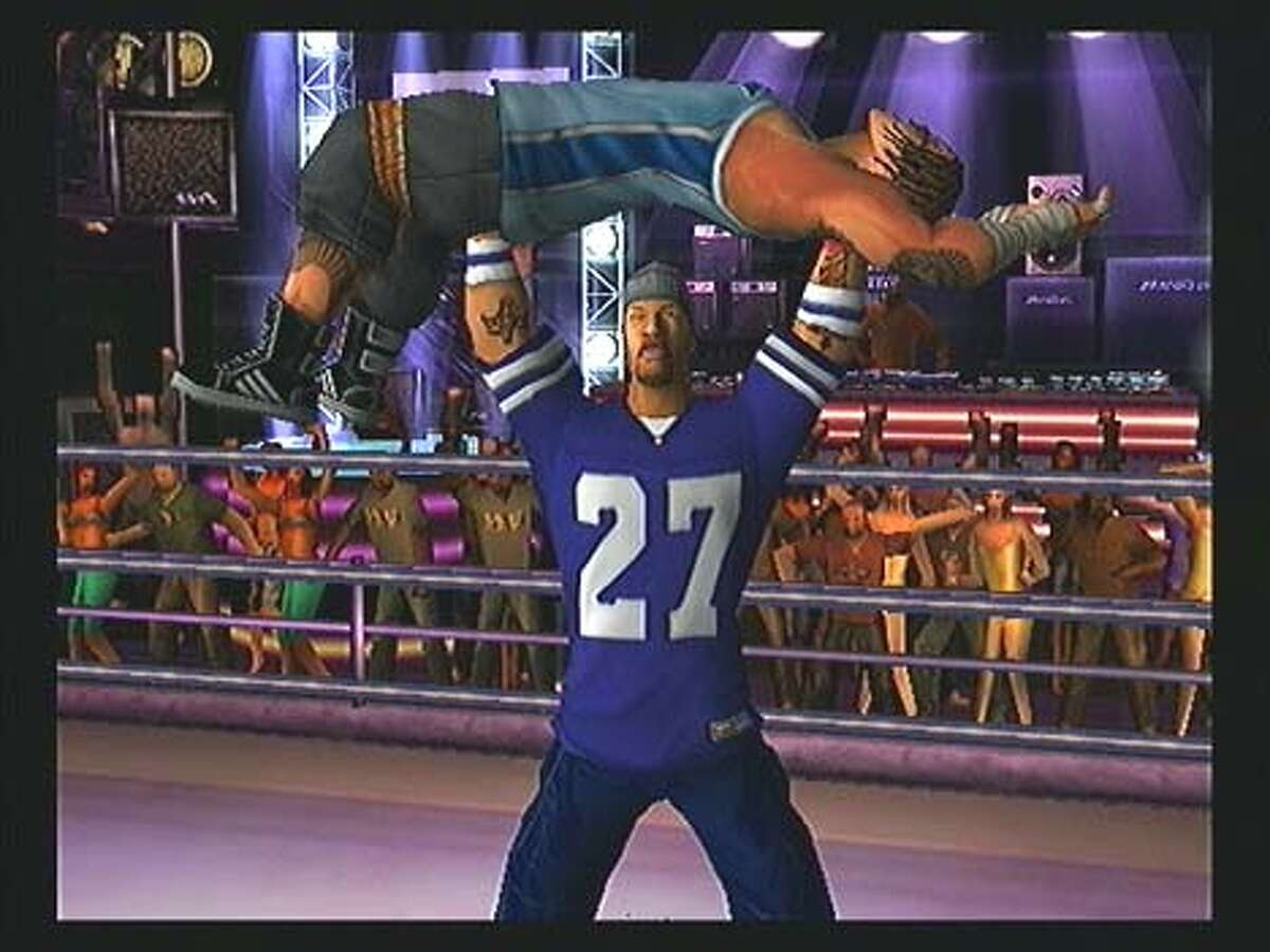 GAMES15-C-12APR03-DD-HO game is Def Jam Vendetta, a wrestling game for the Game Cube and PlayStation 2 that stars a bunch of rappers. HANDOUT IMAGE