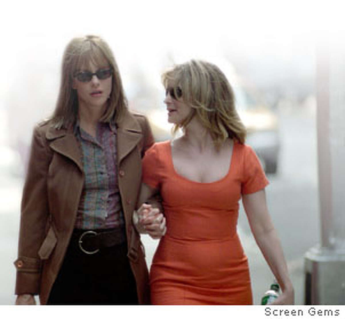 Actresses Meg Ryan (L) and Jennifer Jason Leigh, are shown in a scene from their new drama film