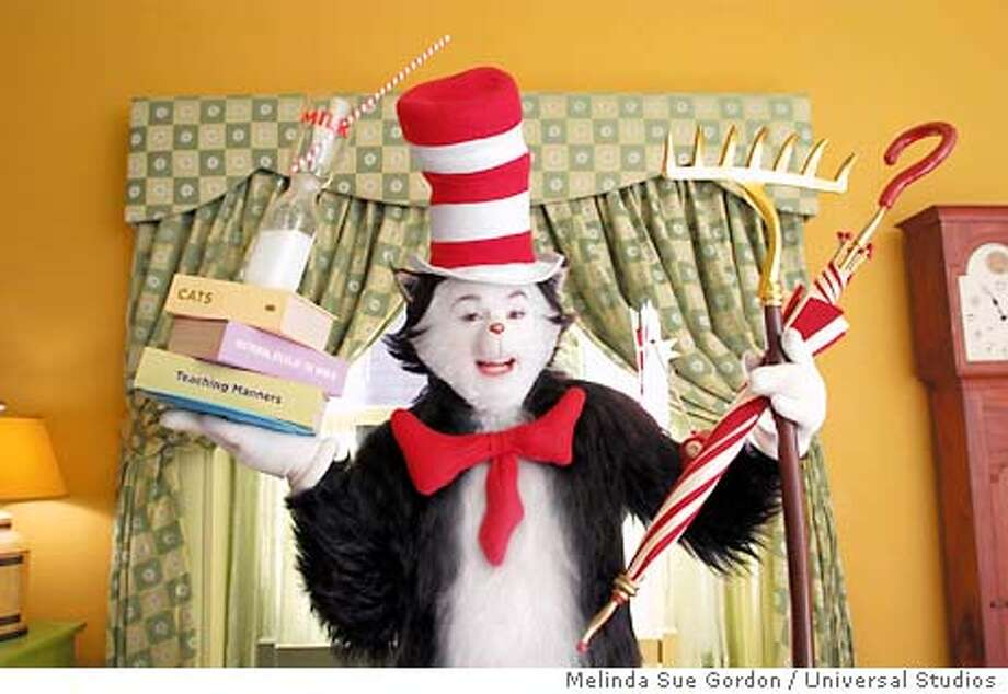 "The star of the new film ""Dr. Seuss' The Cat in the Hat"", Mike Myers as The Cat, is shown in a scene from the film in this undated publicity photograph. The film opens November 21, 2003 in the United States. REUTERS/Melinda Sue Gordon / Universal Studios REUTERS Photo: HO"