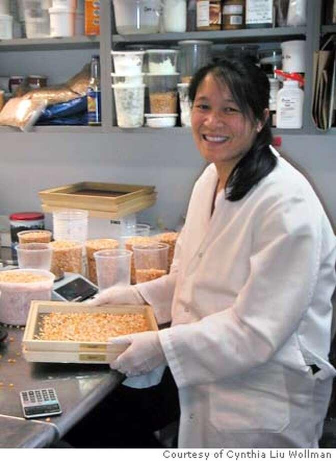 for PNMATTSON26; Michelle Regan of Mattson & Co. sifts popcorn kernels Courtesy Cynthia Liu Wollman, / HO Photo: Courtesy Cynthia Liu Wollman
