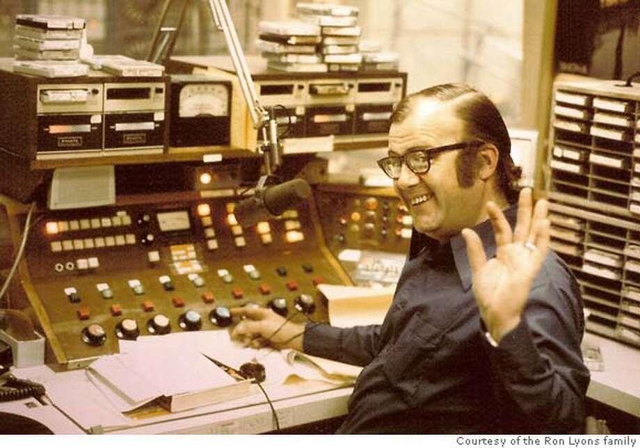 radio DJ Ron Lyons Photo: Courtesy Ron Lyons Family