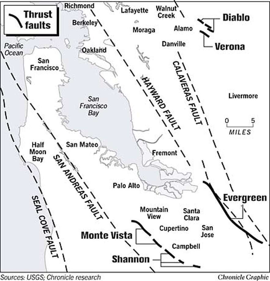 Bay Area Faults. Chronicle Graphic