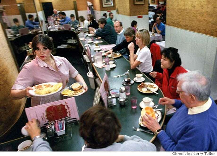 CLASSICS.19/C/13NOV97/FD/JLT Packed house for breakfast at Sears Fine Foods restaurant. 439 Powell Street PHOTO BY JERRY TELFER Photo: JERRY TELFER