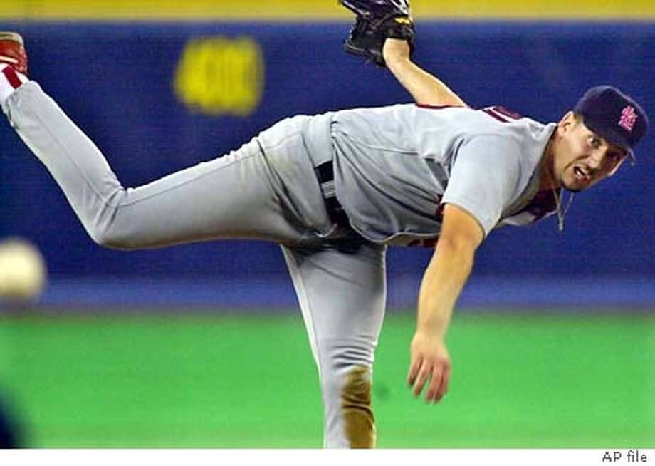 St. Louis Cardinals starting pitcher Garrett Stephenson follows through on a fifth-inning pitch Monday Sept. 11, 2000 against the Pittsburgh Pirates in Pittsburgh.(AP Photo/Gene J. Puskar) Photo: GENE J. PUSKAR