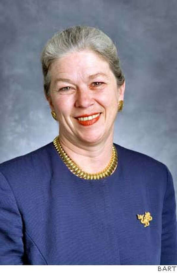 This is a picture of Dorothy Dugger. Her official title is Interim General  Manager.  COURTESY OF BART.  Ran on: 07-29-2007 Ran on: 07-29-2007 Ran on: 08-22-2007  Beverly Scott Photo: BART