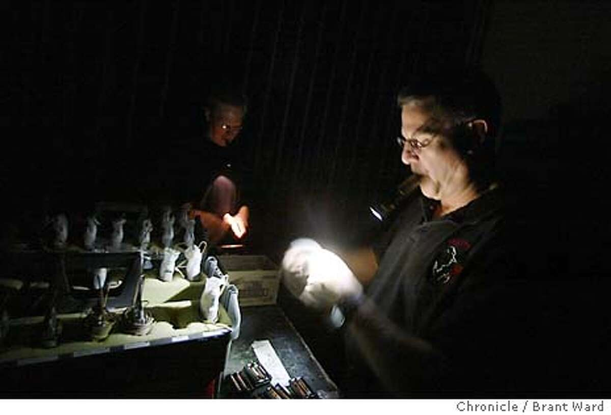 A pesky power outage was still plaguing San Francisco Sunday after a fire at a power station knocked out power Saturday night. Technicians at the production of CATS at the Orpheum Theatre had to cancel their afternoon performance, but they still prepared microphones using flashlights. BRANT WARD / The Chronicle