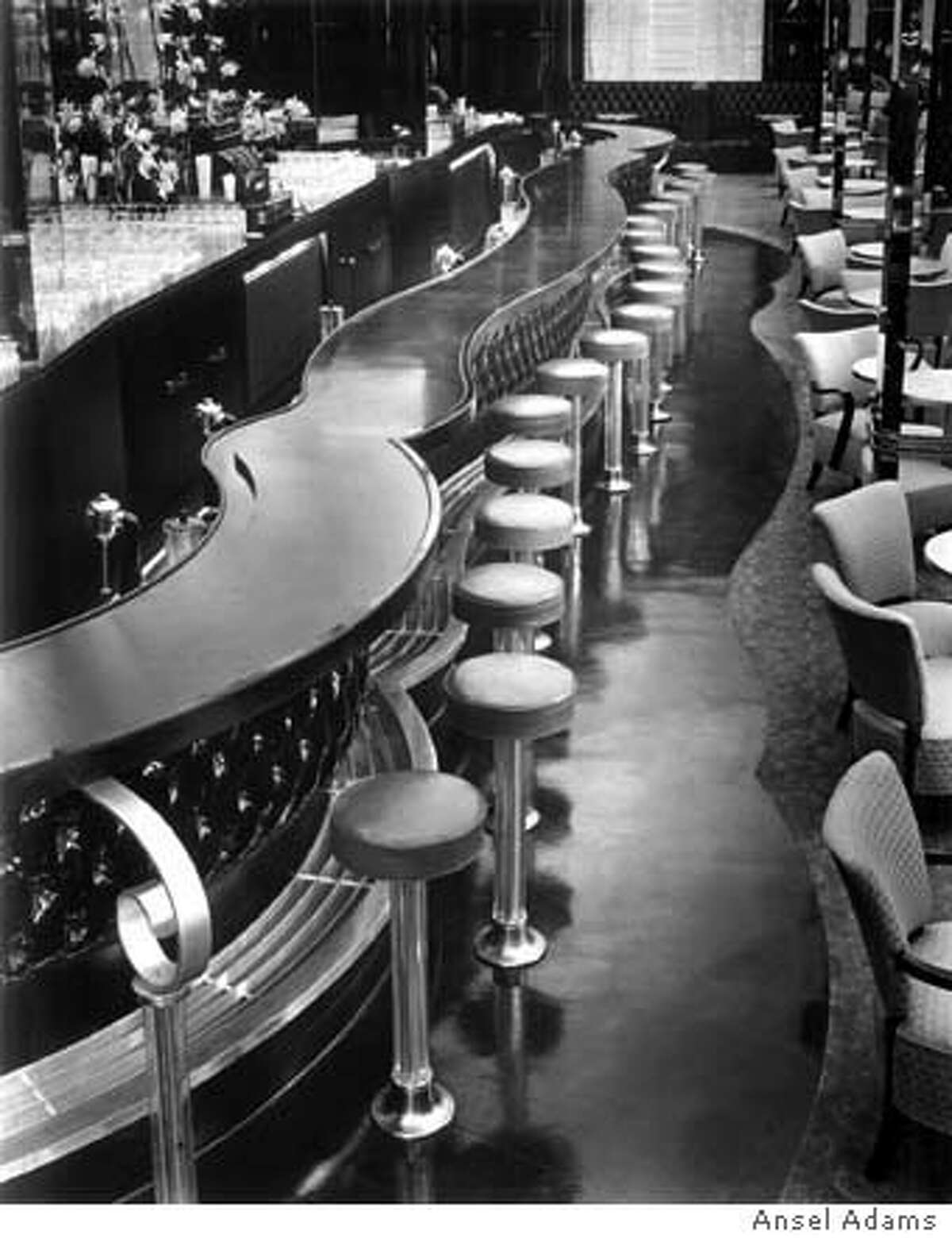 ADAMS20.jpg ANSEL ADAMS Photos OF THE ST. FRANCIS HOTEL's former PATENT LEATHER BAR AND ORCHIR ROOM.