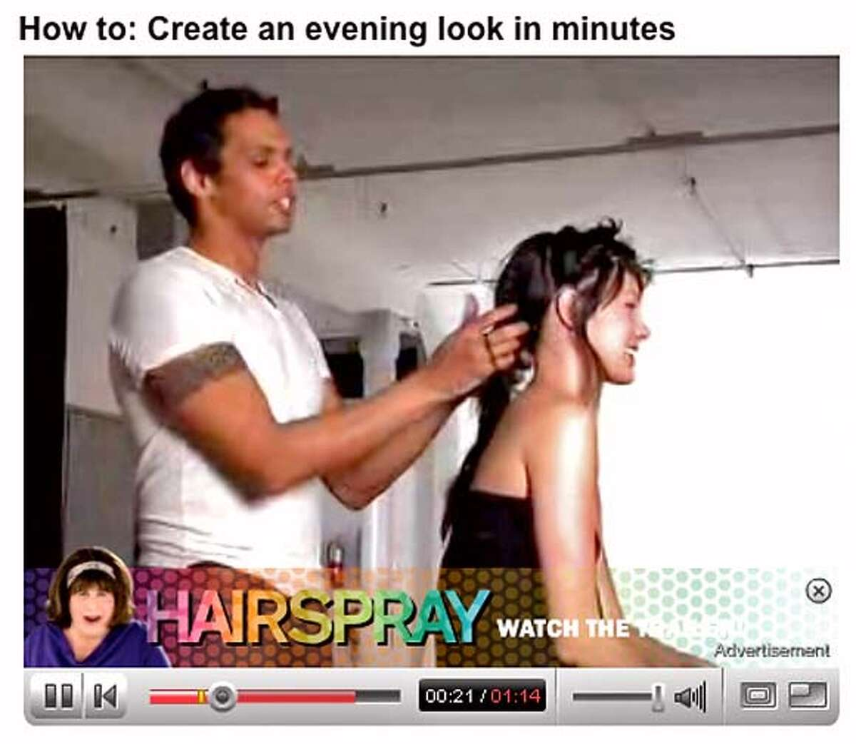 handout example of how google's new advertising will work on you tube videos.