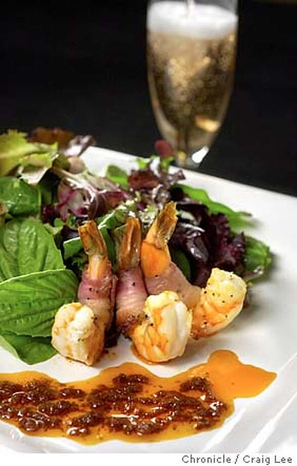Shrimp dish pairing with California sparkling wines. Food photo styled by Shanti Wilson.  Event on 12/9/03 in San Francisco.  CRAIG LEE / The Chronicle Photo: CRAIG LEE