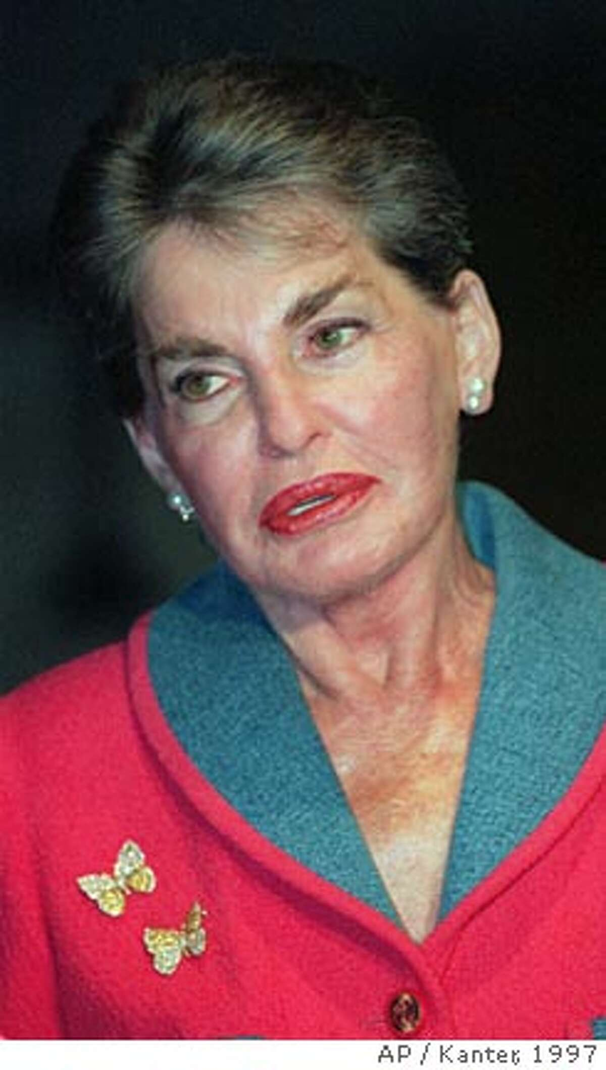 **FILE** Billionaire real estate heiress Leona Helmsley is shown in this Wednesday, May 28, 1997 file photo, in New York. Helmsley, the hotelier who went to prison as a tax cheat and was reviled as the