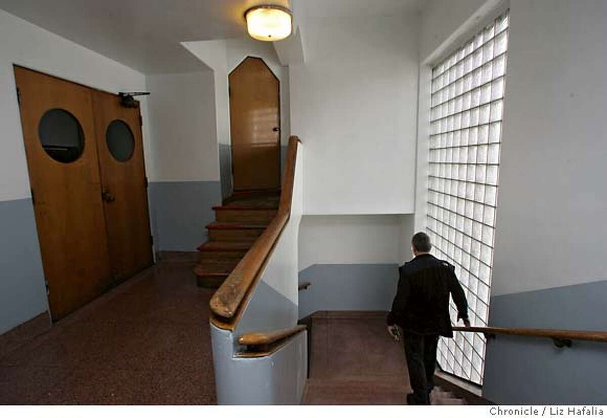 SAILORS_047_LH_.JPG An elevator may be built in this stairwell to accomodate the handicapped. As part of the deal to build One Rincon Hill condos the developers promised several million dollars to turn the Sailors Union of the Pacific building at First & Harrison streets into a community center. Liz Hafalia/The Chronicle/San Francisco/8/15/07 ** cq �2007, San Francisco Chronicle/ Liz Hafalia MANDATORY CREDIT FOR PHOTOG AND SAN FRANCISCO CHRONICLE. NO SALES- MAGS OUT.