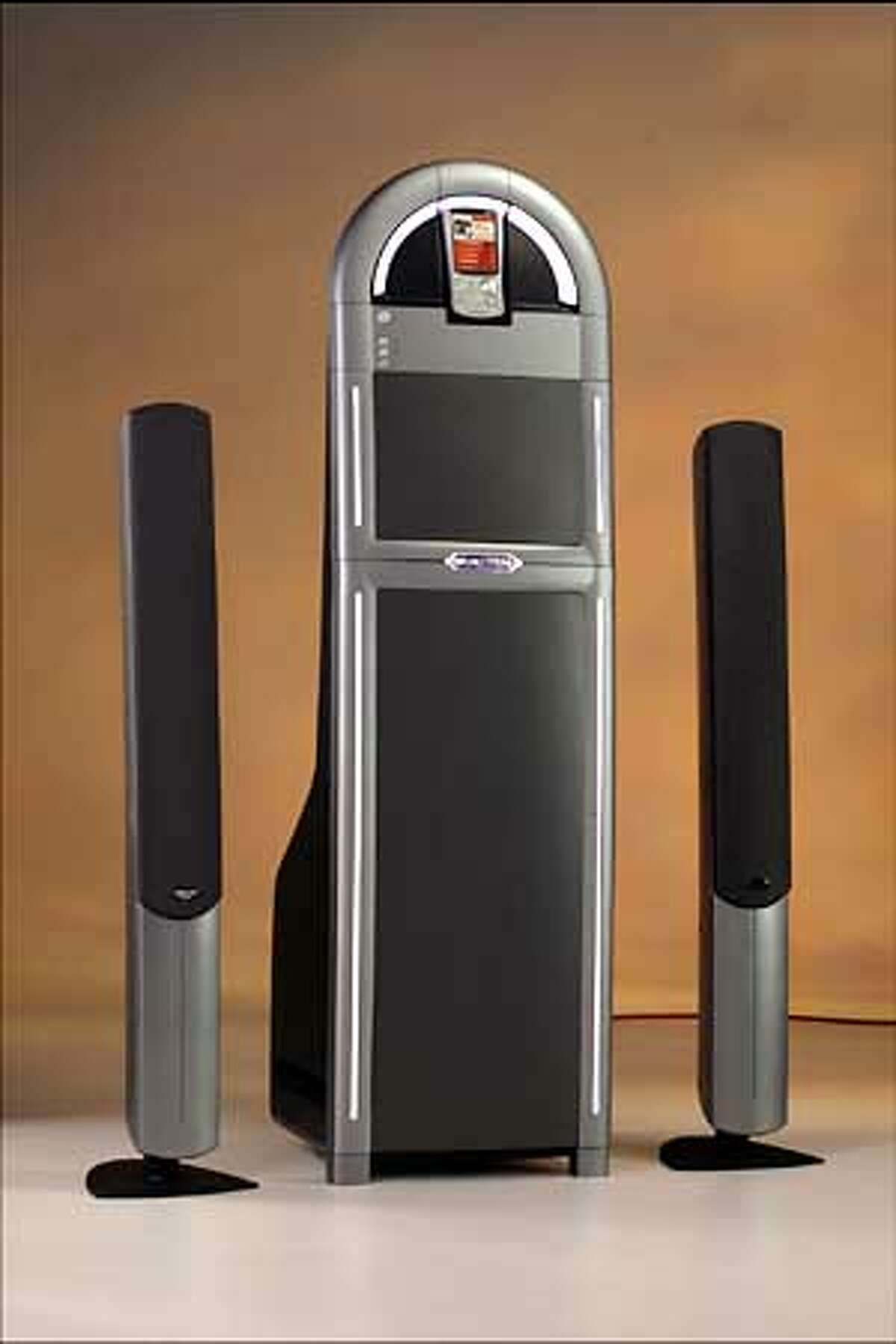 for MUISC15; Wurlitzer Jukebox This is Gibson Audio's new internet connected music player, which ties into the Gibson music store being set up using software from Loudeye and Microsoft. , / HO