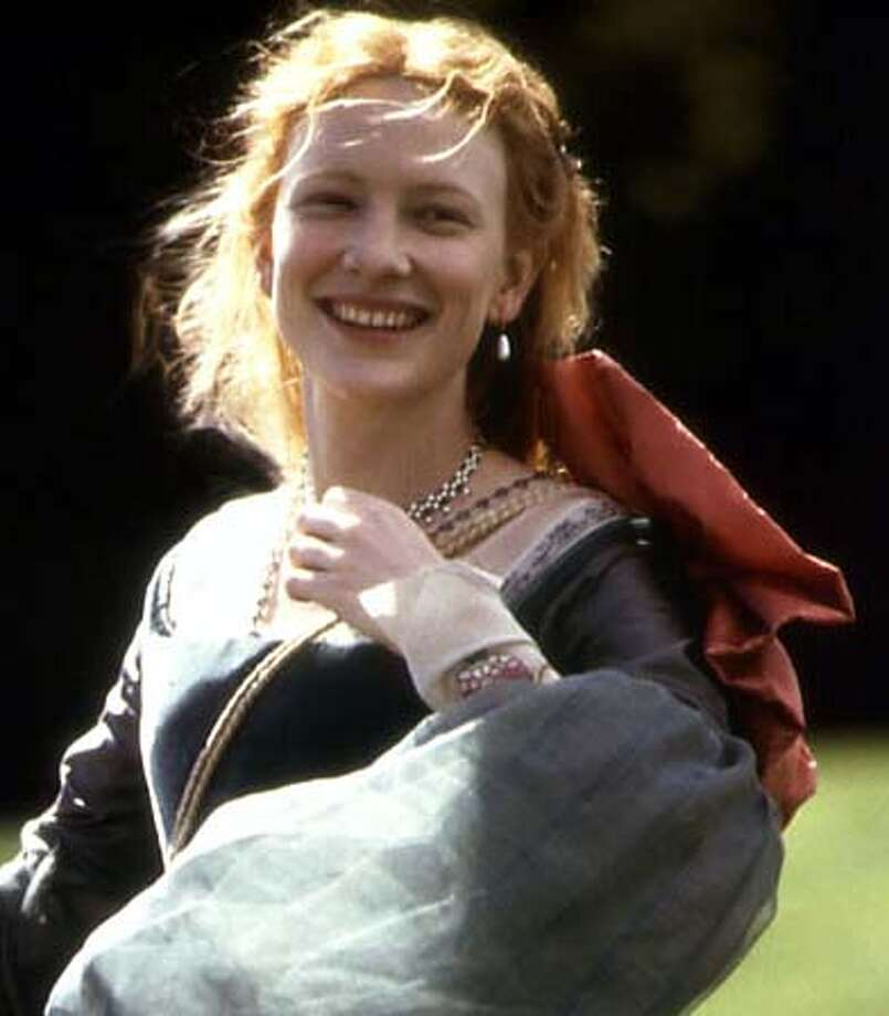 Cate Blanchett as Queen Elizabeth in 1999, the role that earned her her first Oscar nomination. (She lost to Gwyneth Paltrow that year.)