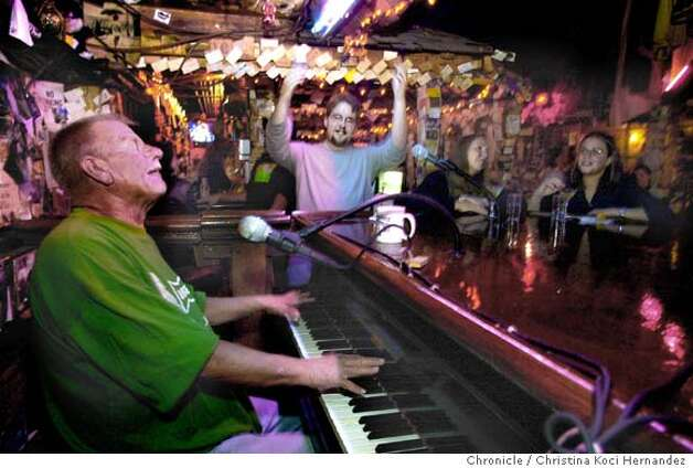 The Alley, a piano bar in Oakland.Magazine story on classic bars in the Bay.  CHRISTINA KOCI HERNANDEZ / The Chronicle Photo: CHRISTINA KOCI HERNANDEZ