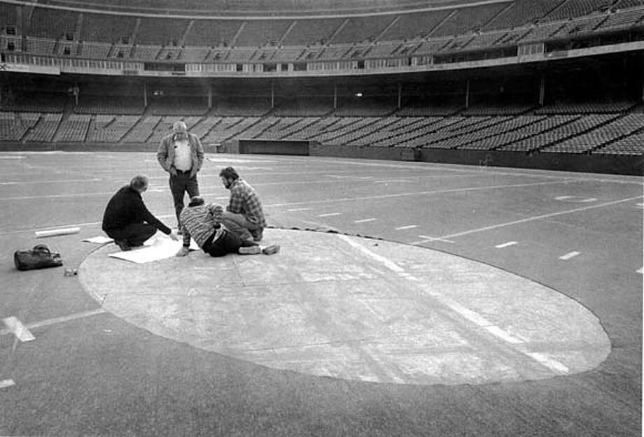 Stolen Piece of astroturf at Candlestick Park.  12/12/78