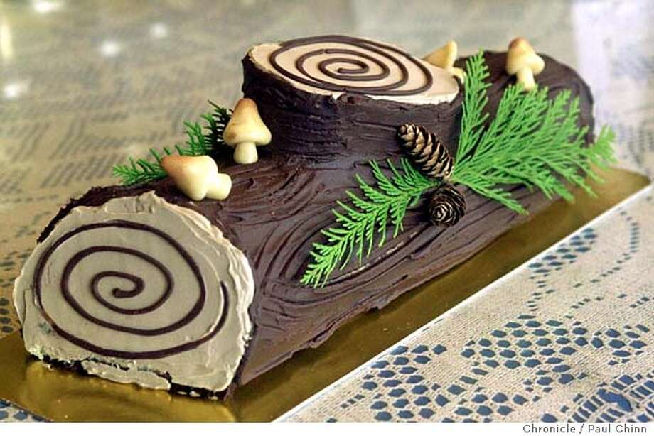 One slice of yule log will run you about 160 calories. Photo: PAUL CHINN