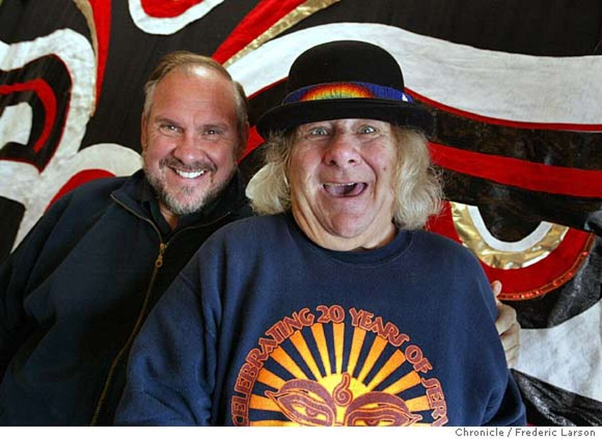 ; Larry Brilliant co-founder (left) and Wavy Gravy of the SEVA Foundation celebrate 25 years. Headquartered in Berkeley, the organization has established programs that have resulted in more than 2 million blind people in the Nepal-India-Tibet area receiving cataract operations that allowed them see again. The foundation also has started various other programs to combat poverty and disease The Chronicle;