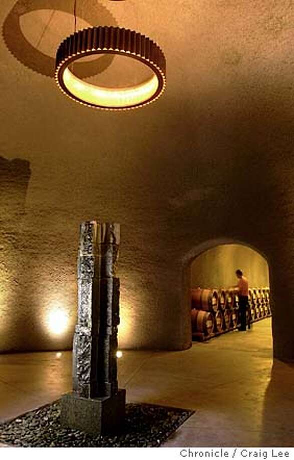 The new Quintessa wine cave in St. Helena. Event on 12/3/03 in St. Helena.  CRAIG LEE / The Chronicle Photo: CRAIG LEE