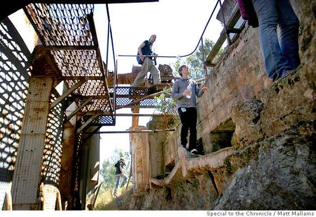 A group of Urban Explorers walks though the Rinconada Mercury Mine outside of San Luis Obispo, CA. 6.2.07 (Photo by Matt Mallams/ Freelance for the San Francisco Chronicle) Photo: Matt Mallams