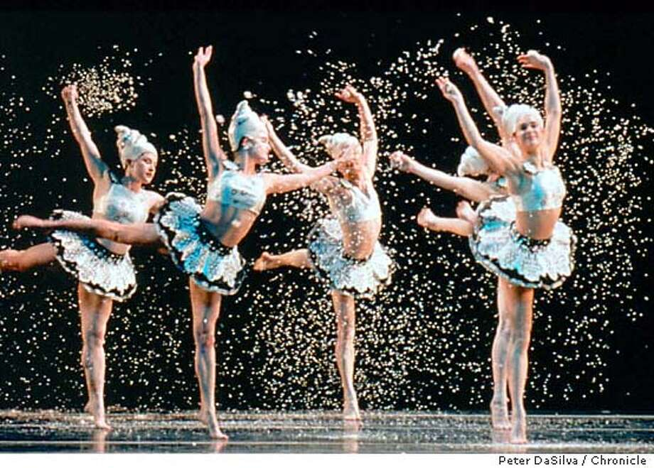 HARD07_MMDG_HardNut_11.jpg for HARD07; Company members of the Mark Morris Dance Group perform the dance of the Snowflakes. The Hard Nut, Morris' much-loved adaptation of the Nutcracker ballet, returns to Cal Performances December 12-21, 2003. Peter DaSilva / Cal Performances MANDATORY CREDIT FOR PHOTOG AND SF CHRONICLE/ -MAGS OUT Photo: Peter DaSilva