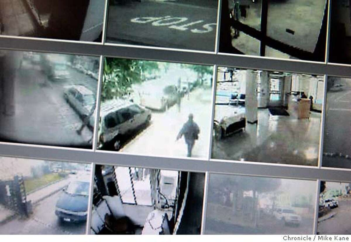 CAMERA17_217_MBK.JPG Video feeds from property surveillance cameras are displayed on a computer screen at the offices of the San Francisco Housing Authority in San Francisco, CA, on Thursday, August, 16, 2007. photo taken: 8/16/07 Mike Kane / The Chronicle *Tim Larsen Gregg Fortner MANDATORY CREDIT FOR PHOTOG AND SF CHRONICLE/NO SALES-MAGS OUT