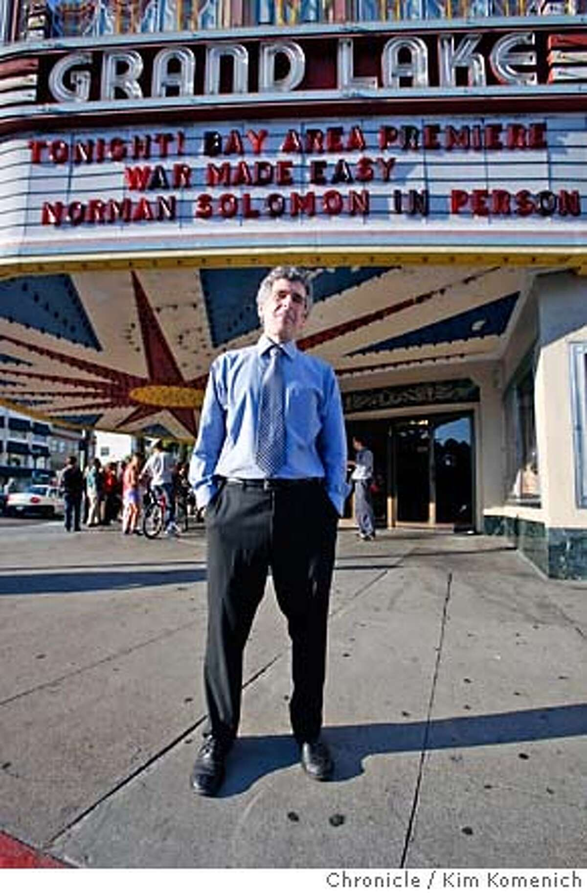 WAR19_075_KK.JPG Activist Norman Solomon greets moviegoers at the screening of his new film