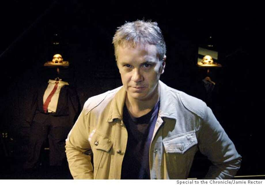 "for TIMROBBINS; November 14, 2003- Tim Robbins is the director of a new play called ""Embedded"" which is currently playing at the Actor's Gang Theatre at 6209 Santa Monica Blvd. Photo By: Jamie Rector Jamie Rector, / Special To The Chronicle Photo: Jamie Rector"
