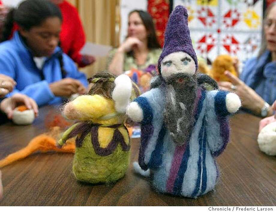 ; Rainbow Fabrics, Crafts and Things of Fairfax holds a class in the backroom that creates felted wool dolls and ornaments- even origami cranes. The Chronicle; Photo: FREDERIC LARSON