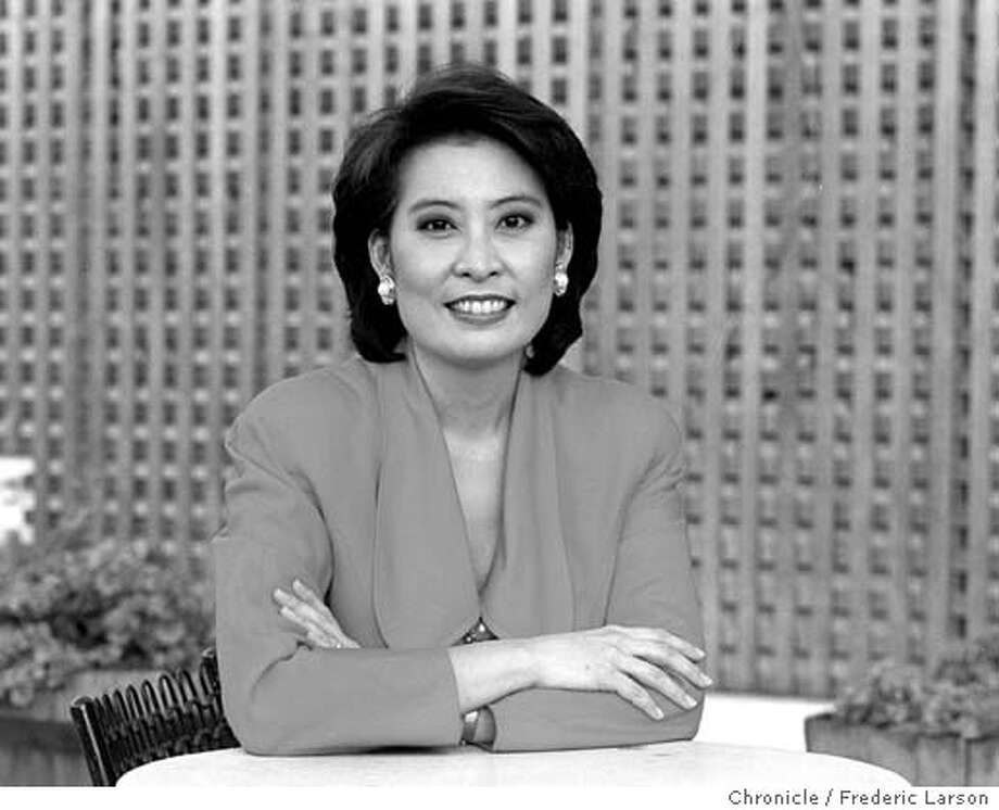 YEH/05APR96/MN/FRL: Emerald Yeh, TV news personality for KRON.