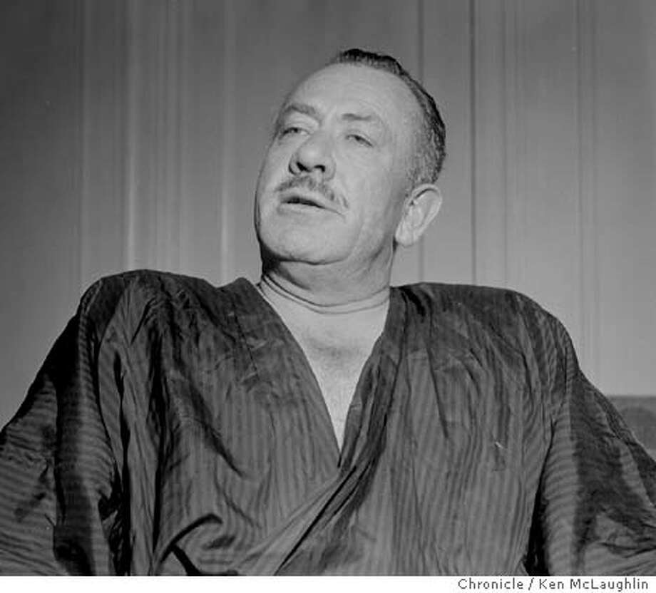 STEINBECK2/C/19SEP57/PK/KM-John Steinbeck BY KEN MCLAUGHLIN/THE CHRONICLE 1957 Photo: KEN MCLAUGHLIN