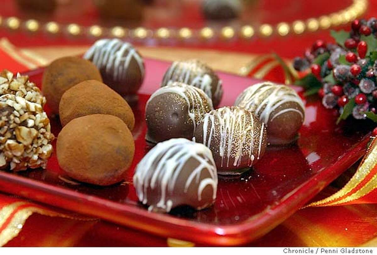 Chocolate Truffles shot at Betty Zlatchin Catering 11/24/03 in San Francisco. PENNI GLADSTONE / The Chronicle